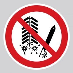 Autocollant Panneau ne pas déclencher de feux d'artifice - ISO7010 - P040