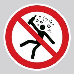 Autocollant Panneau interdit aux personnes en état d'ivresse - ISO7010 - P043