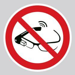 Autocollant Panneau utilisation des lunettes intelligentes interdite - ISO7010 - P044