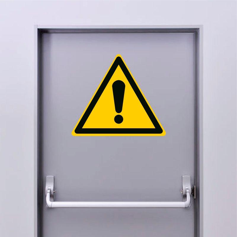 Autocollant Panneau danger signal général - ISO7010 - W001