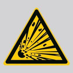 Autocollant Panneau danger matières explosives - ISO7010 - W002