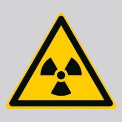 Autocollant Panneau danger matières radioactives ou radiations ionisantes - ISO7010 - W003
