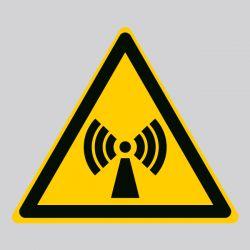 Autocollant Panneau danger radiations non ionisantes - ISO7010 - W005
