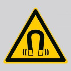 Autocollant Panneau danger champ magnétique - ISO7010 - W006