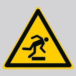 Autocollant Panneau danger trébuchement - ISO7010 - W007
