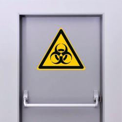 Autocollant Panneau danger risque biologique - ISO7010 - W009
