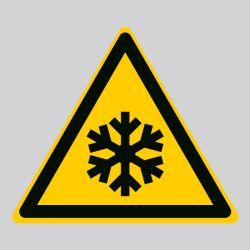 Autocollant Panneau danger basses températures - ISO7010 - W010