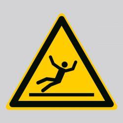 Autocollant Panneau danger surface glissante - ISO7010 - W011