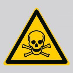 Autocollant Panneau danger matières toxiques - ISO7010 - W016