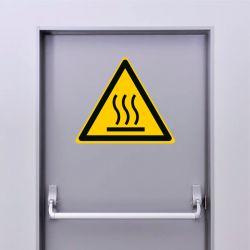 Autocollant Panneau danger surface chaude - ISO7010 - W017