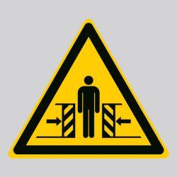 Autocollant Panneau danger écrasement - ISO7010 - W019
