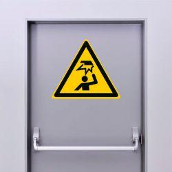 Autocollant Panneau danger obstacle en hauteur - ISO7010 - W020