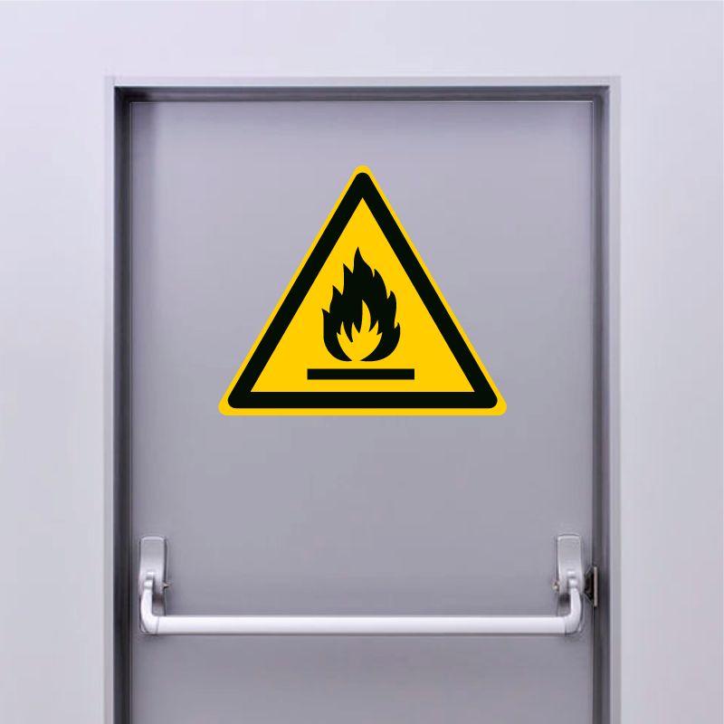 Autocollant Panneau danger matières inflammables - ISO7010 - W021