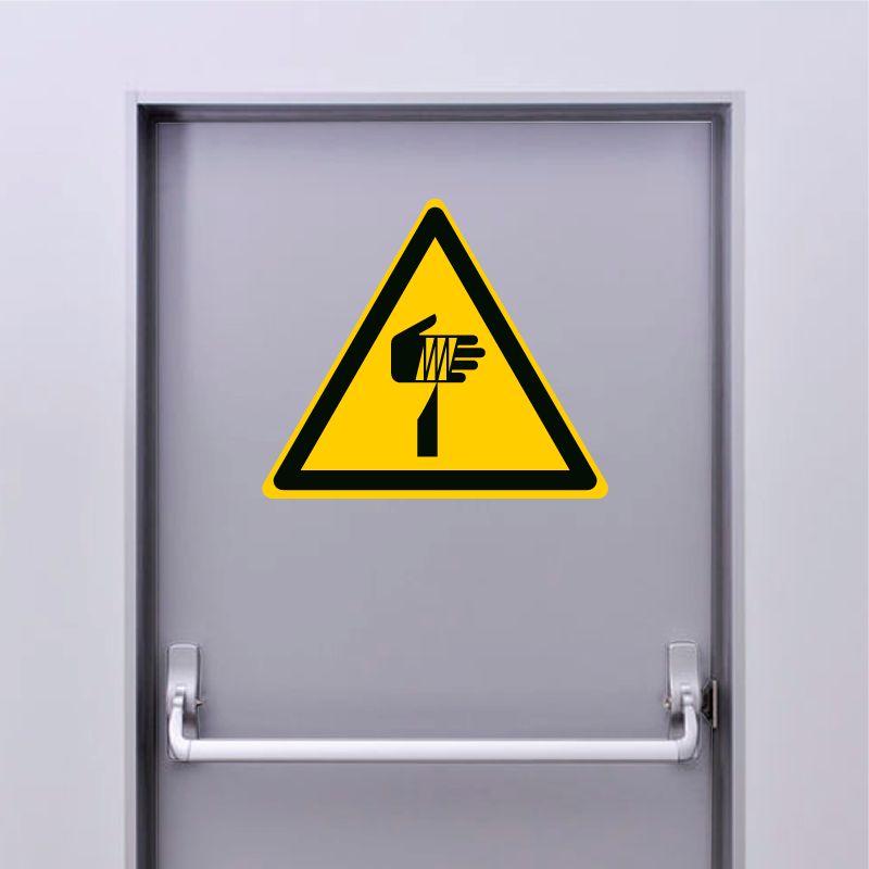 Autocollant Panneau danger élément pointu - ISO7010 - W022