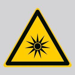 Autocollant Panneau danger rayonnement optique - ISO7010 - W027