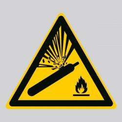 Autocollant Panneau danger bouteille pressurisée - ISO7010 - W029
