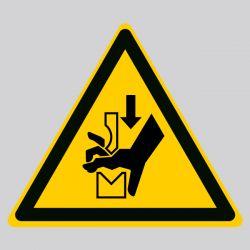 Autocollant Panneau danger écrasement de la main - ISO7010 - W030