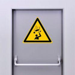 Autocollant Panneau danger chute d'objets - ISO7010 - W035