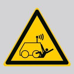 Autocollant Panneau danger machine commandée à distance par l'opérateur - ISO7010 - W037