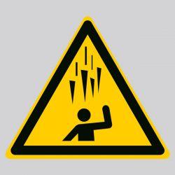 Autocollant Panneau danger chute de glace - ISO7010 - W039