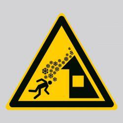 Autocollant Panneau danger chute de neige du toit - ISO7010 - W040