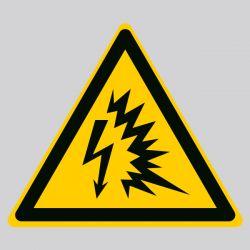 Autocollant Panneau danger arc électrique - ISO7010 - W042