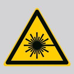 Autocollant Panneau danger rayonnement laser - ISO7010 - W004