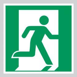Autocollant Panneau Sortie de secours - Doitre - ISO7010 - E002