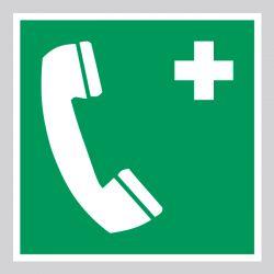 Autocollant Panneau Téléphone d'urgence - ISO7010 - E004