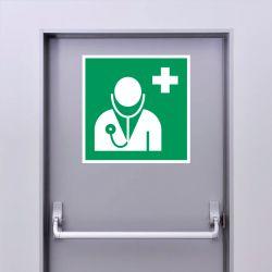 Autocollant Panneau Médecin - ISO7010 - E009