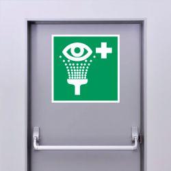 Autocollant Panneau Equipement de rinçage des yeux - ISO7010 - E011