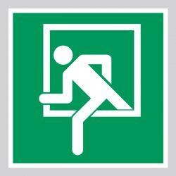 Autocollant Panneau Fenêtre d'urgence - ISO7010 - E016C