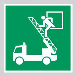 Autocollant Panneau  Fenêtre de secours - ISO7010 - E017
