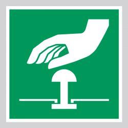 Autocollant Panneau Bouton d'arrêt d'urgence - ISO7010 - E020