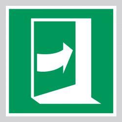 Autocollant Panneau Porte qui s'ouvre en poussant sur son côté droit - ISO7010 - E023