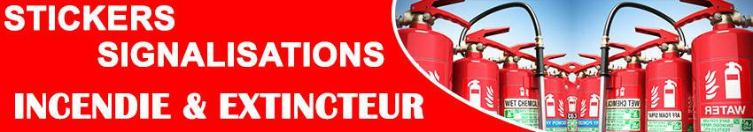 Autocollant  Incendie - Sticker Incendie   Zone Signalétique